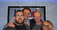 Nick Frost & Simon Pegg with Jamie & Emma