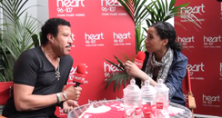 Lionel Richie and Margherita Taylor backstage at H
