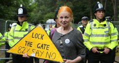 Dame Vivienne Westwood joins anti-fracking activis