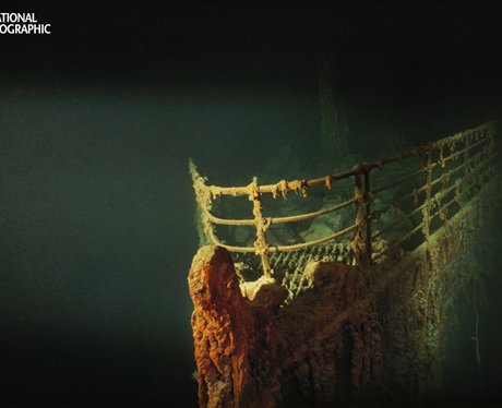 Rusted prow of the R.M.S. Titanic,