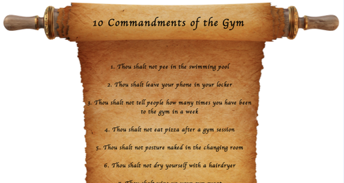 10 Commandments of the Gym