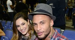 Kelly Brook and David McIntosh attends basket ball