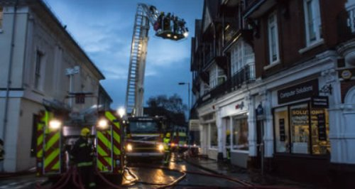 Winchester Jewry Street flat fire