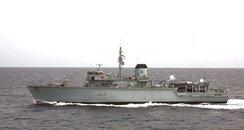 HMS Brocklesby Portsmouth minehunter