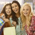 Girls Shopping In Spring Summer