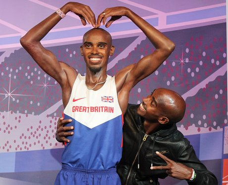 Mo Farah and his waxwork