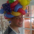 Olly Murs in a balloon hat