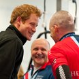 Prince Harry in a gym