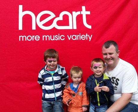 David, Ethan, Cameron and Josiah with their face p