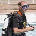 Prince William scuba dives in London.