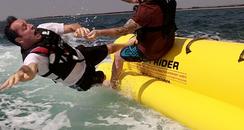 Tom Comes Off Of Banana Boat