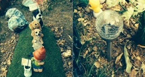 vandalised baby's grave in Southampton