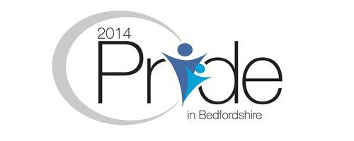 Pride in Bedfordshire 2014 Logo