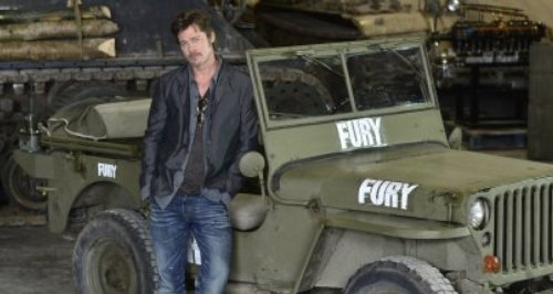 Newlywed Brad Pitt Visits Bovington Tank Museum In