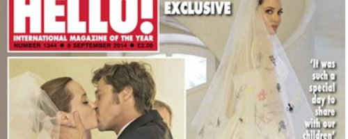 Brad Pitt and Angelina Jolie Wedding in Hello Maga