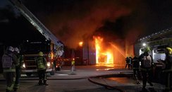 Marchwood Hampshire fire industrial estate