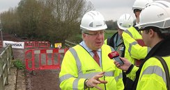 Transport Sec Patrick McLoughlin in Muchelne