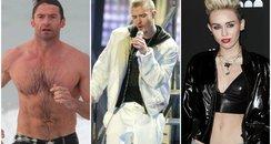 Hugh, Justin, Miley