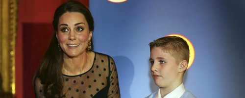 Kate Middleton with a child