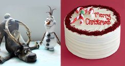 Christmas cake canvas