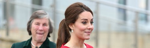 Duchess of Cambridge wearing a red dress