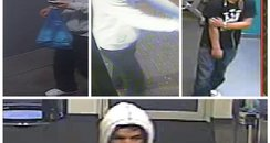 CCTV images of Pure Gym theft suspects