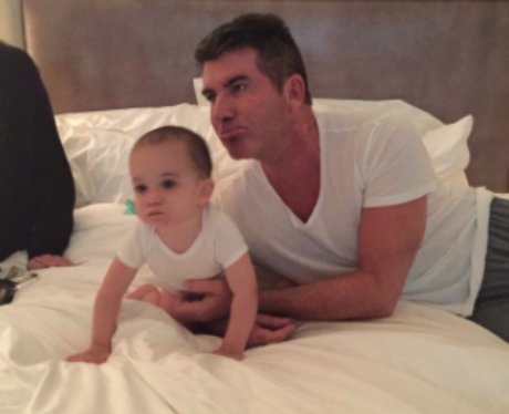 Eric Cowell with Dad Simon Cowell