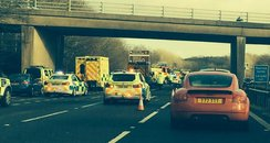 Delays on M4 after crash
