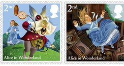 Royal Mail Stamps Alice In Wonderland