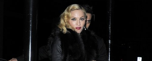 Madonna wearing platform shoes