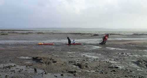 mud rescue Lymington mum daughter