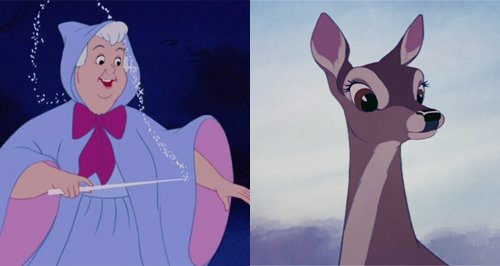 Cinderella and Bambi filmstill