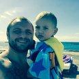Bristol dad Michael Graydon (with his son). Michae
