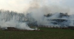 Six Mile Bottom Fire near A11