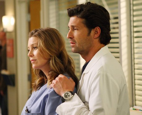 Derek and Meredith from Grey's Anatomy TV show cou