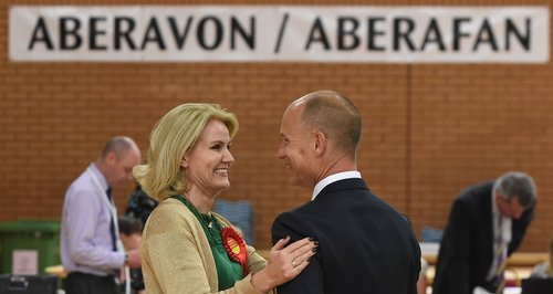 Helle Thorning Schmidt and Stephen Kinnock