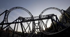 "The ""Smiler"" Roller Coaster at Alton Towers."