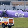 Flybe plane with new logo