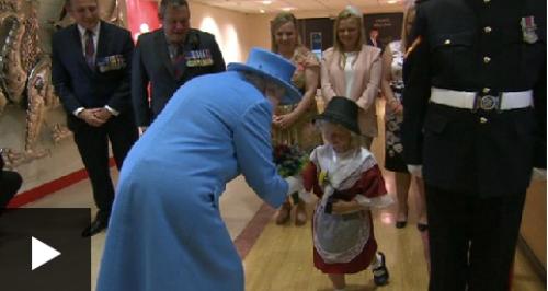 little girl meeting queen