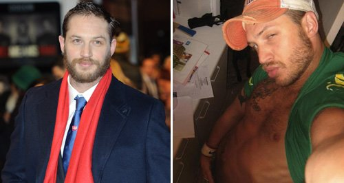 Tom Hardy now and then (myspace)