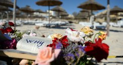 Beach where a terror attack happened in Tunisia