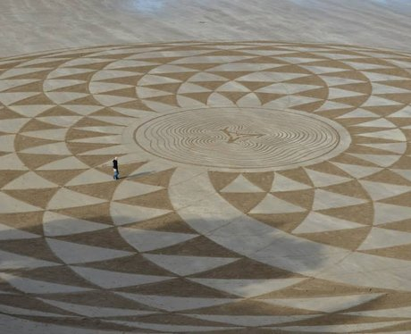 Sand Circles and Shapes