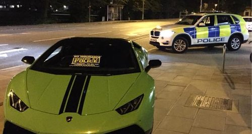 Lamborghini Seized in Luton