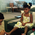 Blue Ivy getting a manicure