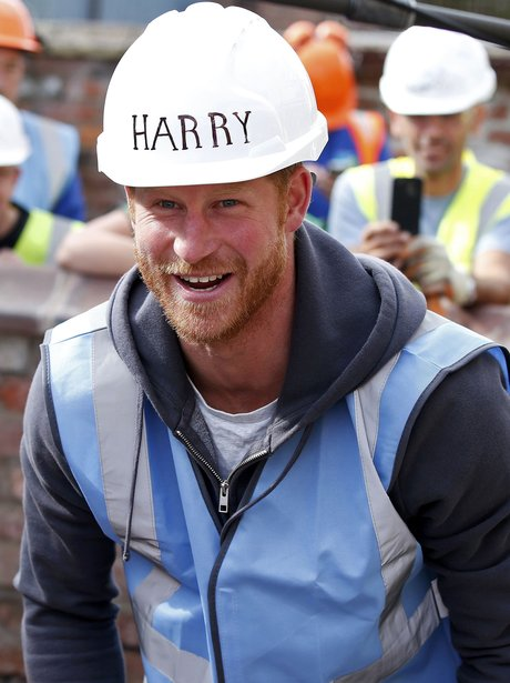 Prince Harry, The Big Build, Manchester, builder