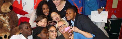 Emma Bunton Visits Barnet Carers Centre