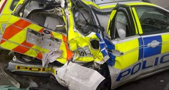 A338 police car crash