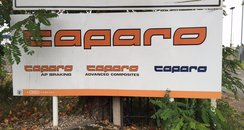 Caparo sign Leamington