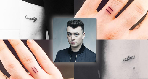 Sam Smith Tattoo Canvas