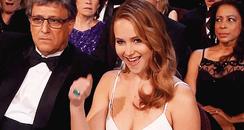 Jennifer Lawrence fist pump